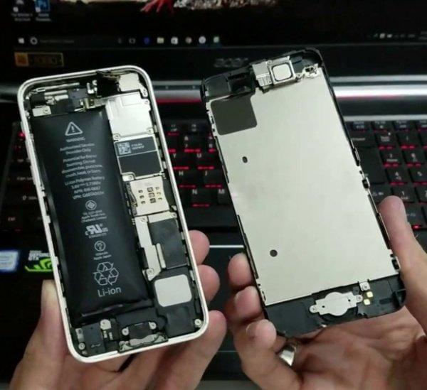 iphone bị hở màn hình