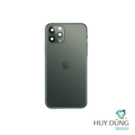 Thay vỏ iPhone 11 Pro Max vàng xanh bóng đêm