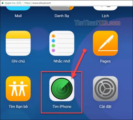 Cách tìm iphone bị mất