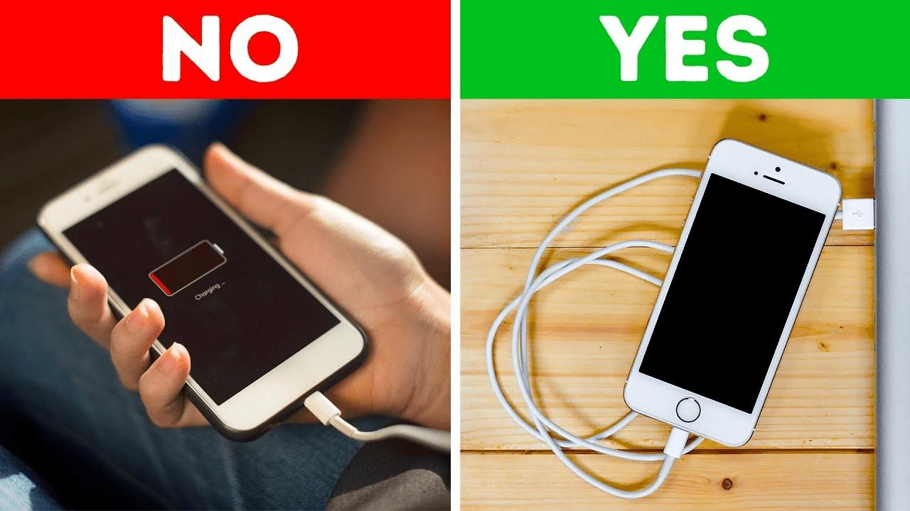Không sử dụng điện thoại khi đang sạc