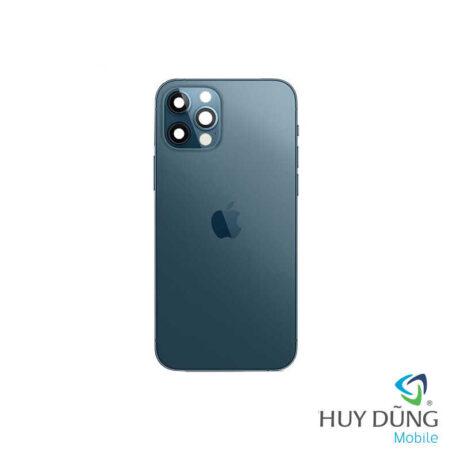 Độ vỏ iPhone 11 Pro Max lên iPhone 12 Pro Max xanh