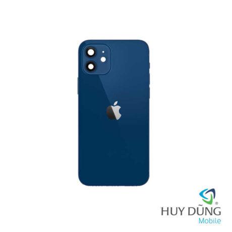 Độ vỏ iPhone Xr lên iPhone 12 xanh