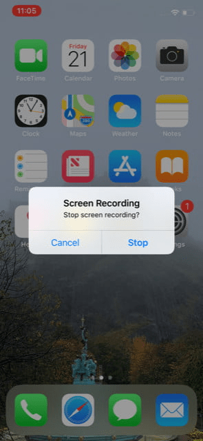 Cách quay màn hình điện thoại iPhone 11 có chứa âm thanh