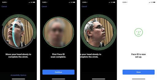 Vào Cài đặt để thiết lập Face ID