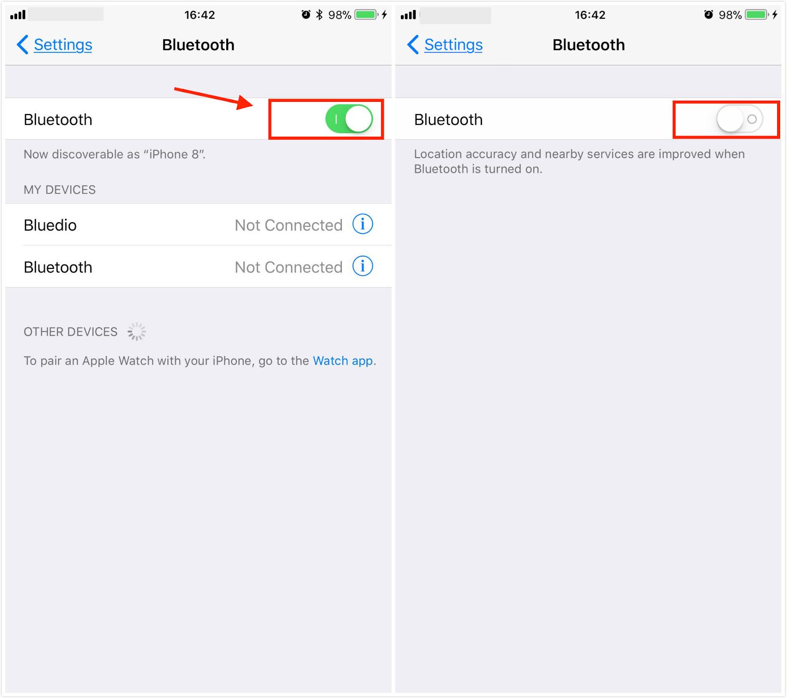 Tắt và bật lại Bluetooth trên iPhone 11 Pro Max của bạn