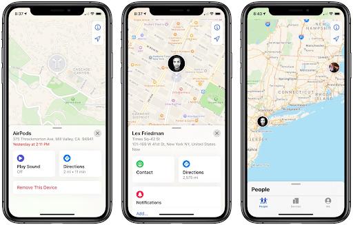 Xác định vị trí thiết bị của bạn hoặc của bạn bè thông qua iCloud