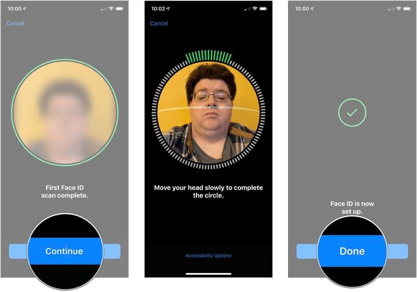 tạo thành công giao diện Face ID mới