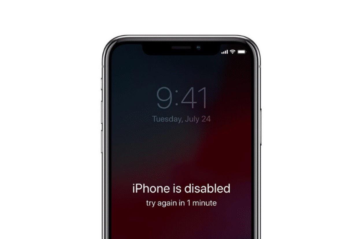 iPhone X vô hiệu hóa là bị lỗi gì, có sửa được không?
