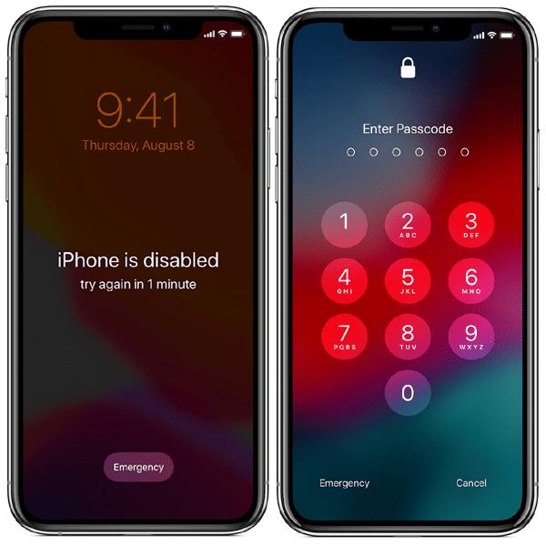 iPhone X vô hiệu hóa