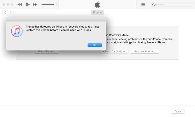 Khôi phục iPhone X từ iTunes