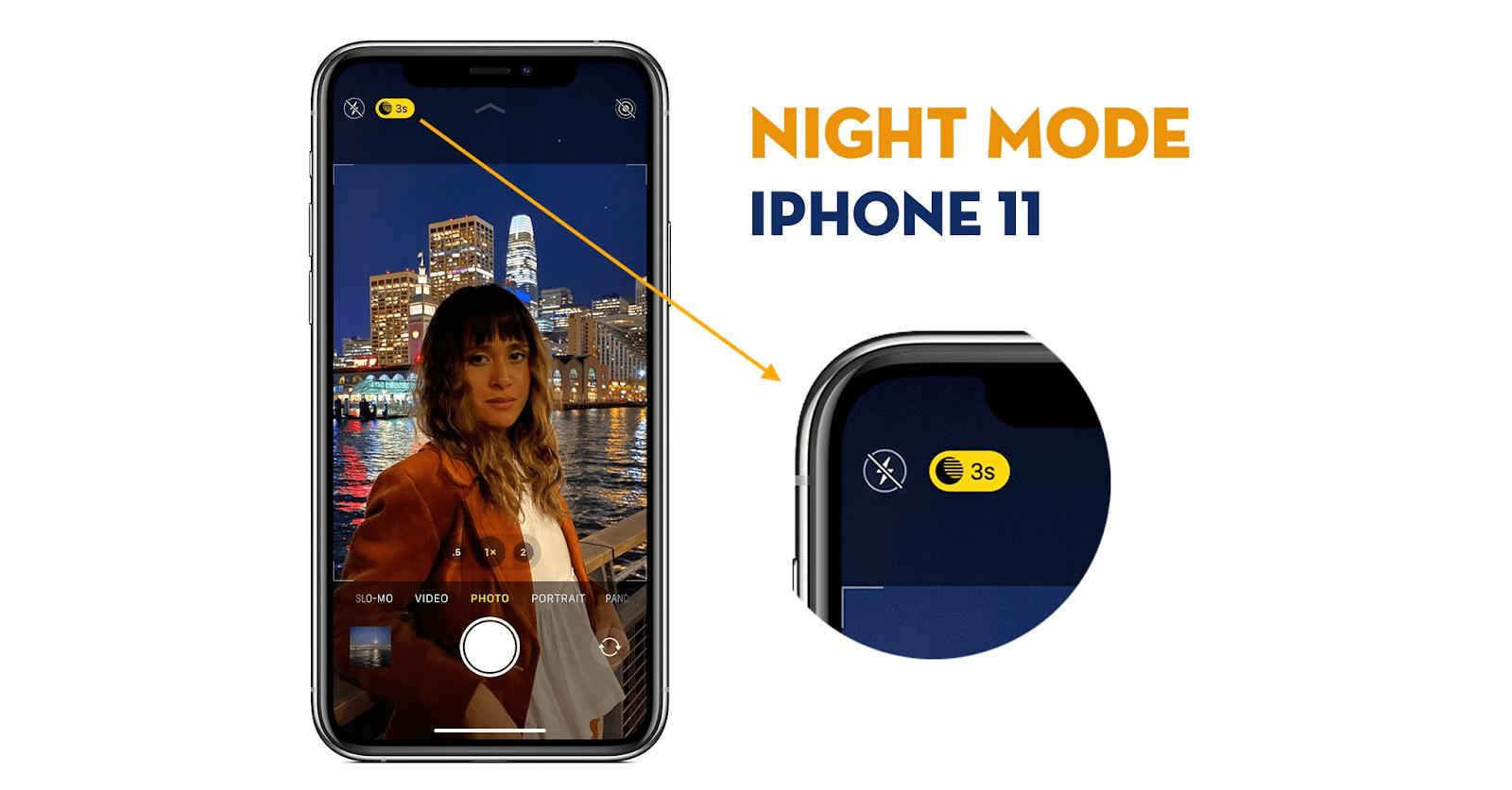 Chế độ ban đêm không làm giảm chất lượng ảnh chụp