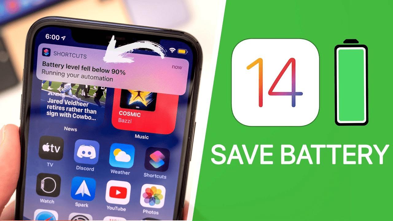 7 cách giúp bạn tiết kiệm Pin cho iPhone khi đang chạy iOS 14