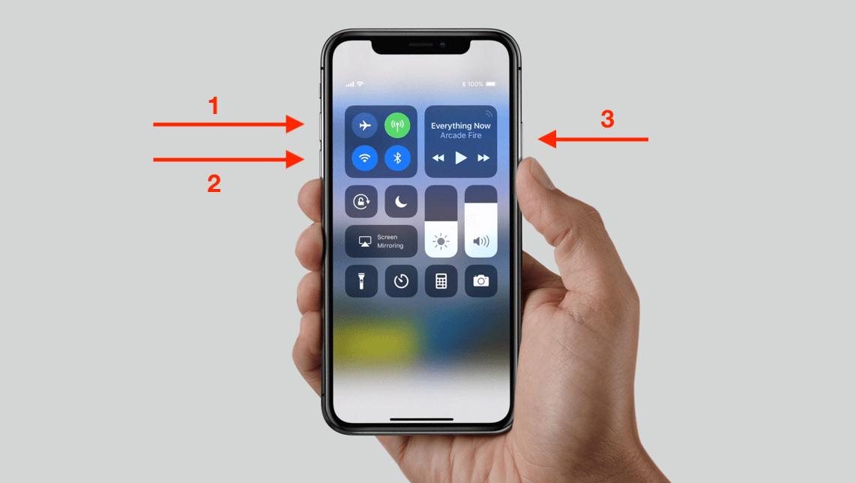 Khởi động lại iPhone X