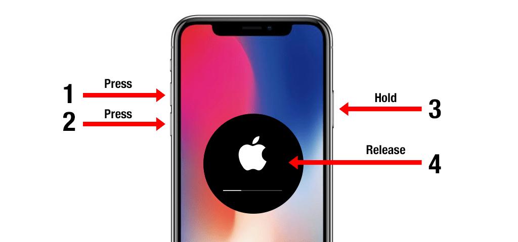 Khởi động lại iPhone Xs Max
