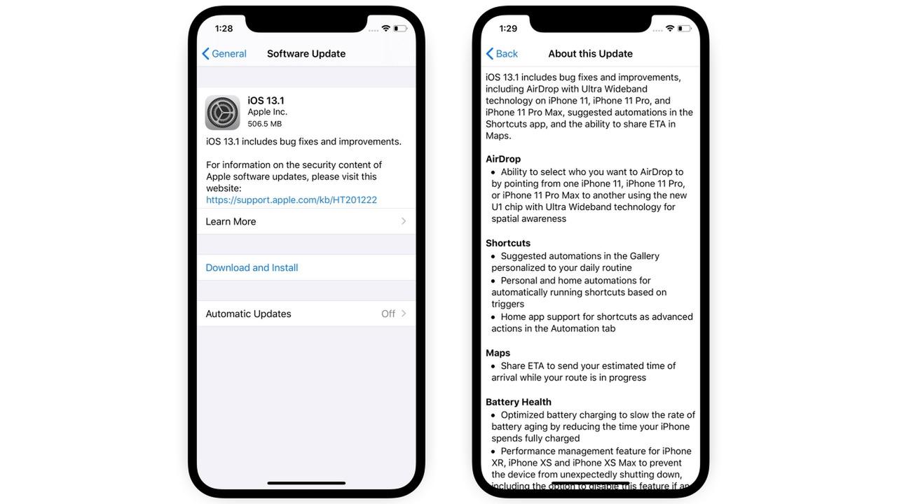 Cài đặt bản cập nhật iOS mới nhất