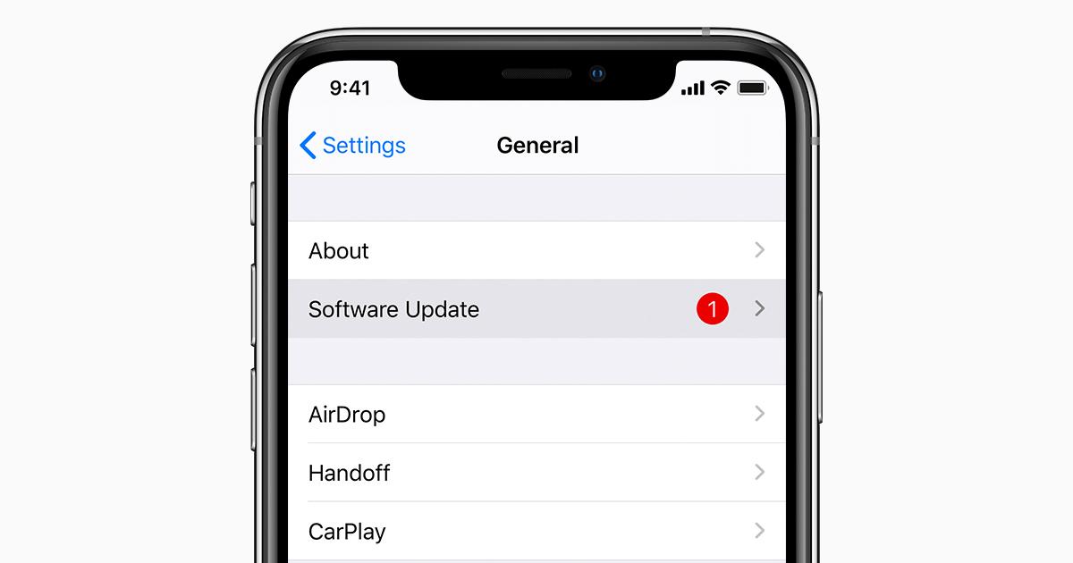 Cập nhật phiên bản iOS mới nhất