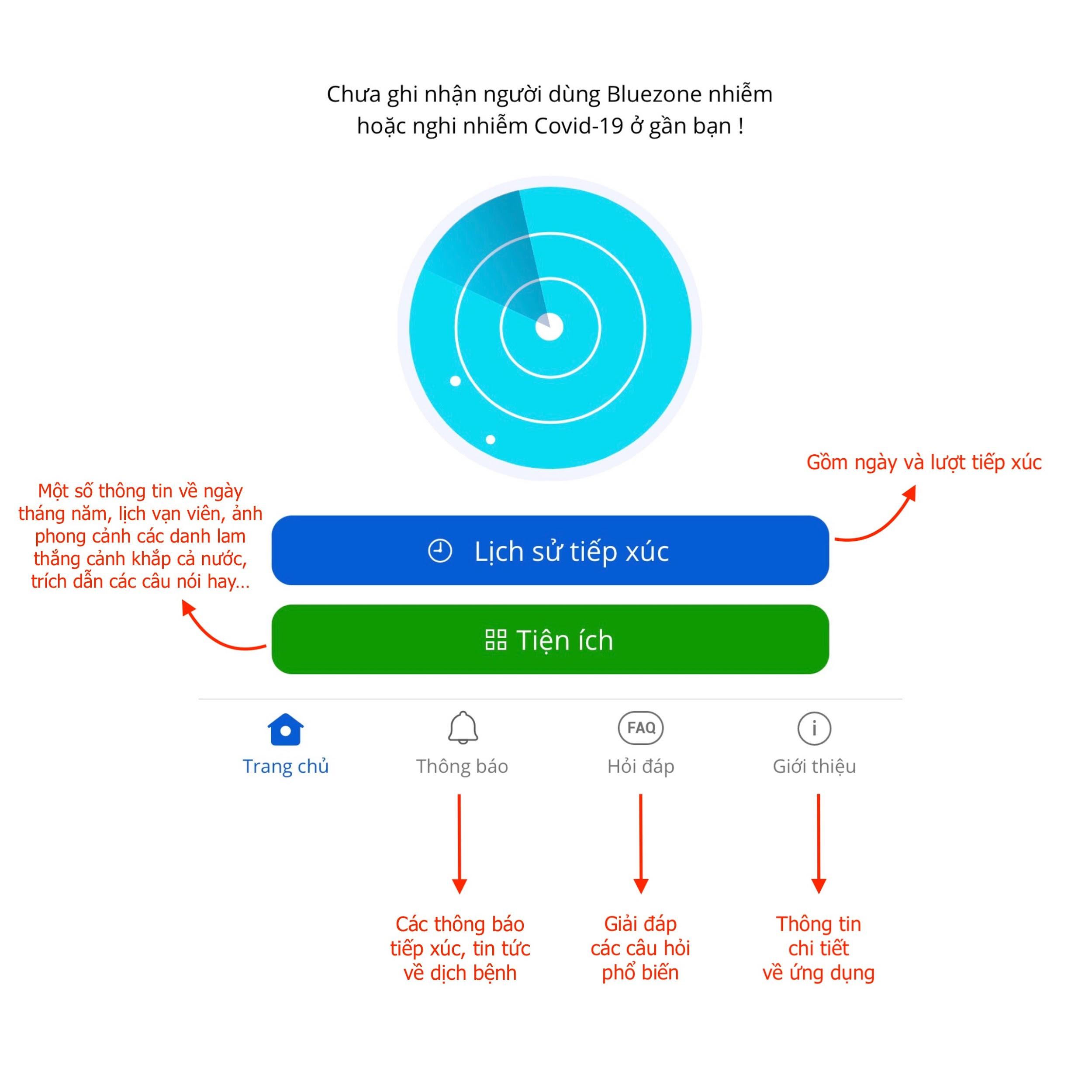 Cách xài ứng dụng Bluezone trên iPhone X rất đơn giản
