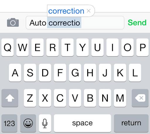 Tự sửa lỗi chính tả (Auto-correction) đề xuất hoặc thay đổi từ ngữ