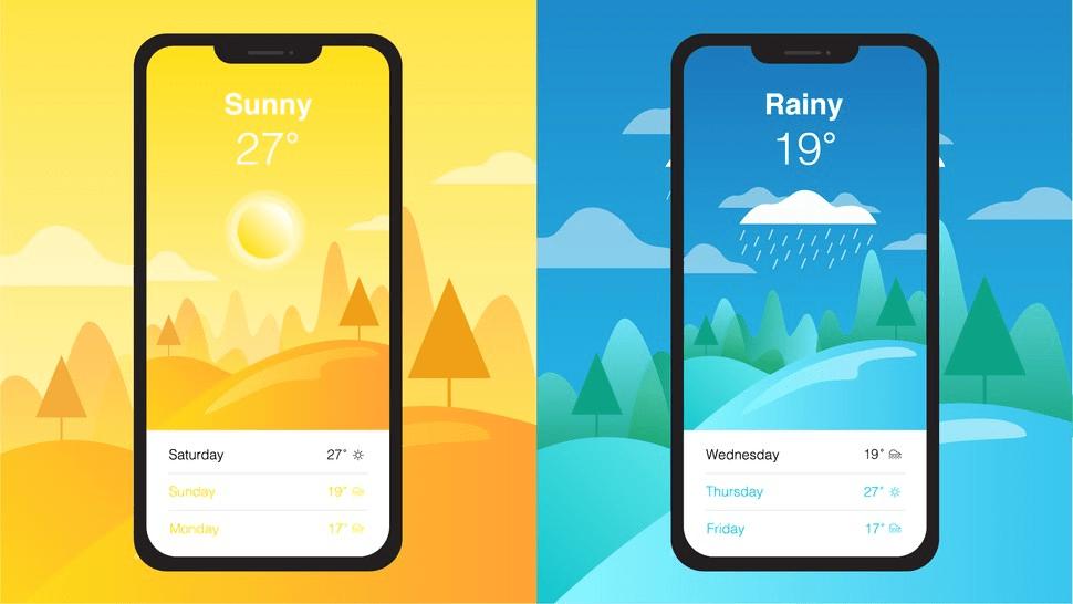 5 ứng dụng thời tiết tốt nhất trên điện thoại iPhone X