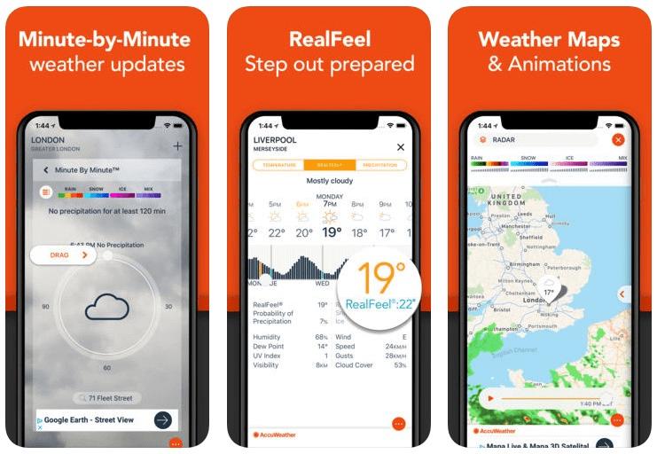 AccuWeather là một trong những ứng dụng thời tiết có lượt tải hàng đầu trên App Store