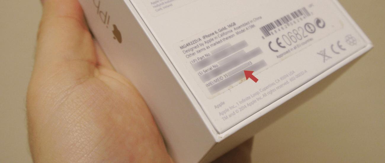 Số IMEI trên hộp iPhone
