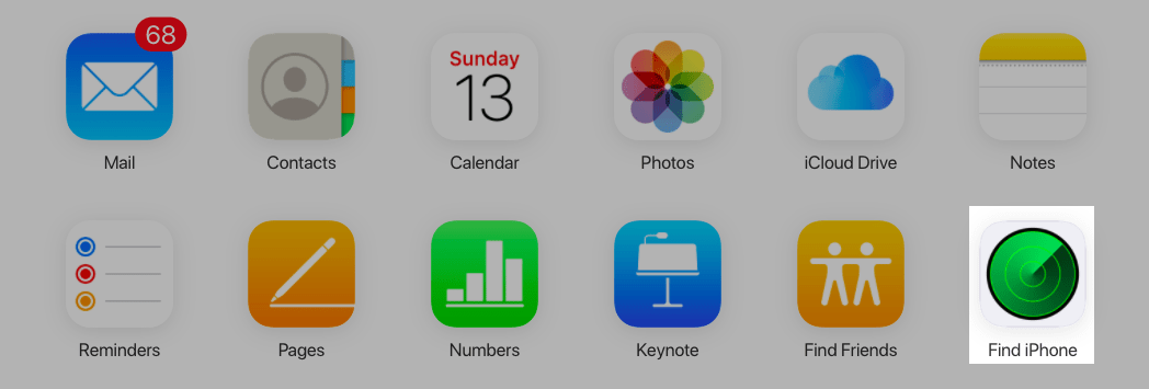 Nhấn vào Find iPhone (Tìm iPhone)