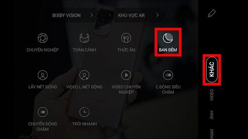 Chế độ Chụp ban đêm của Galaxy Note 20