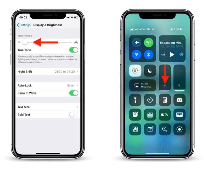 Cách giảm độ sáng màn hình iPhone X