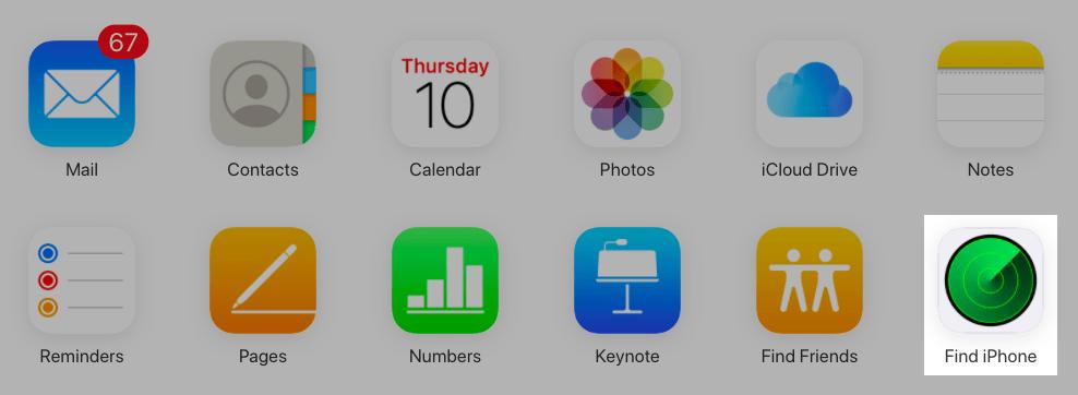 Bạn nhấn vào Find iPhone (Tìm iPhone)