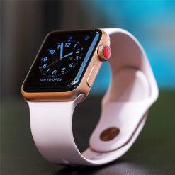 Apple Watch Series 3 38mm Viền Nhôm Vàng - Dây Hồng