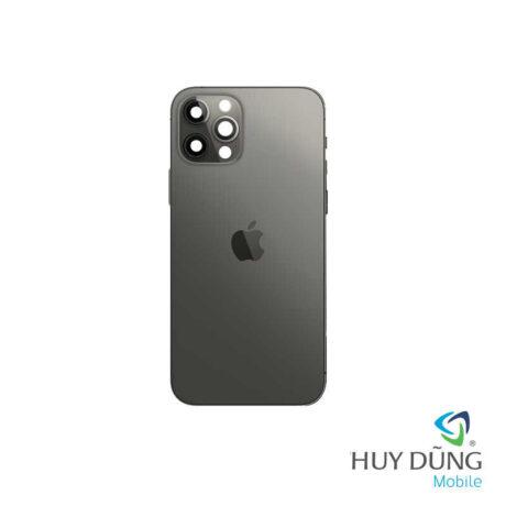 Độ vỏ iPhone X lên iPhone 12 Pro vàng trắng xám